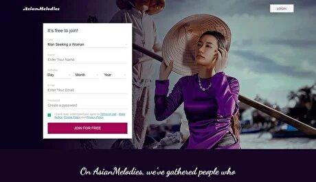 AsianDating registration sample