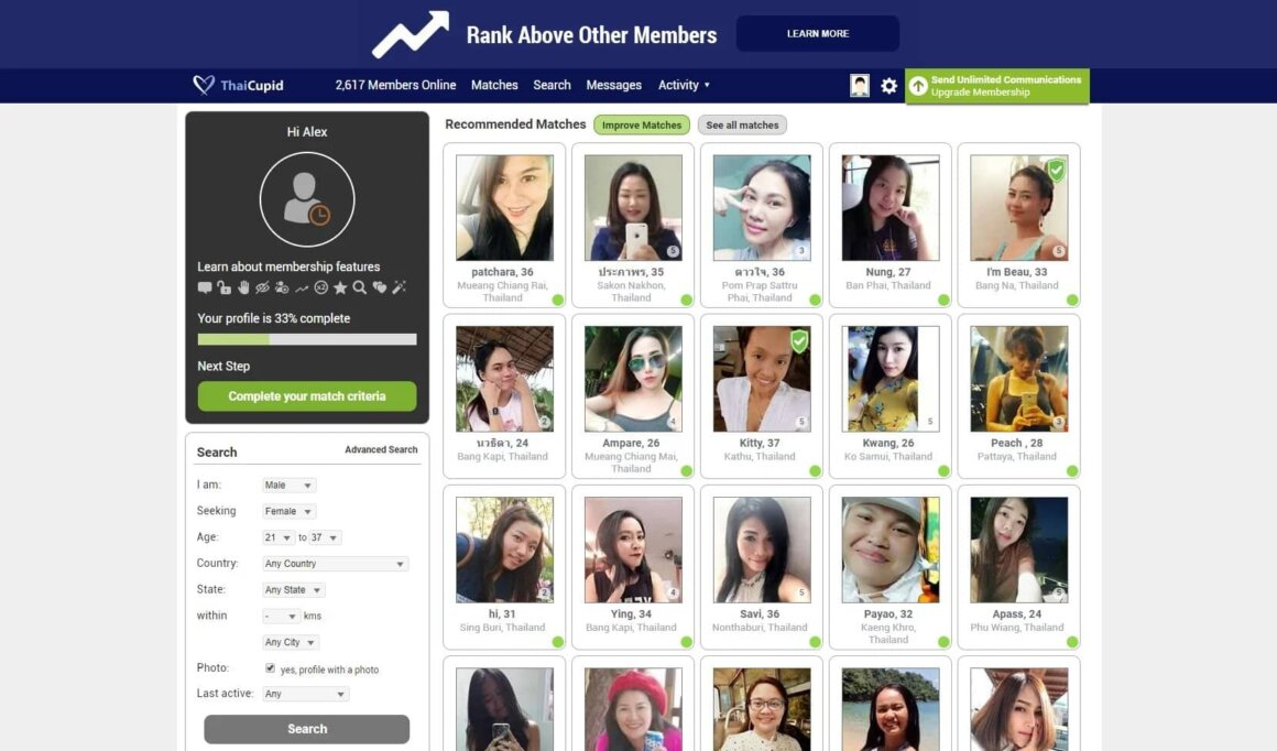Thai Cupid accounts list
