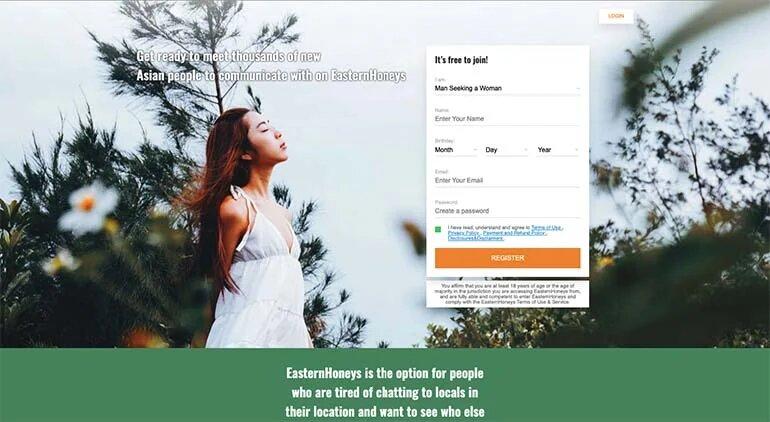 EasternHoneys login page